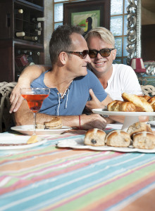 Monthly potluck event in Santa Fe for gay men.