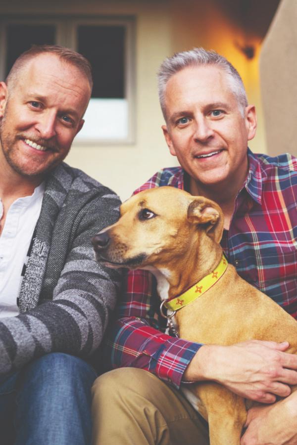 John Blair with partner Billy & dog